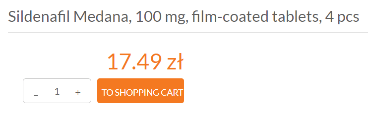 According to a website that sells Sildenafil Medana, this drug is sold in a pack of four for