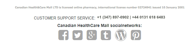Canadian Health and Care Mall Contact Information